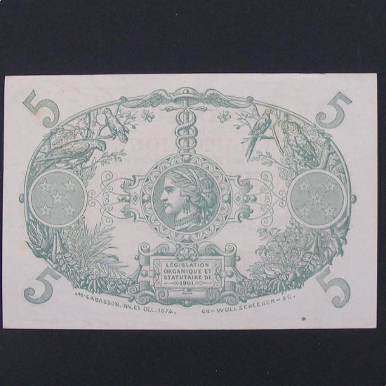 Martinique, 5 Francs 1945, VF+/XF