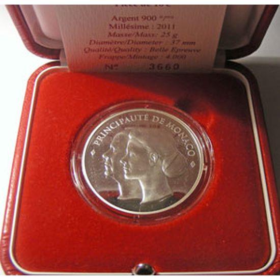 Monnaie Euro, 10€ Monaco 2011, Mariage Princier, boite+certificat N°3660