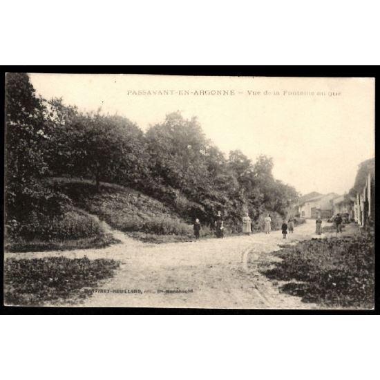 51 - PASSAVANT EN ARGONNE (Marne)  - Vue de la Fontaine au Gué
