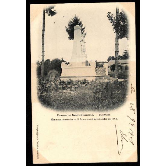 51 - PASSAVANT  (Marne)  - Monument Commémoratif du massacre des Mobiles en 1870