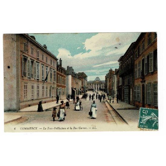 55 - COMMERCY (Marne) - La Sous Préfecture et la Rue Carnot