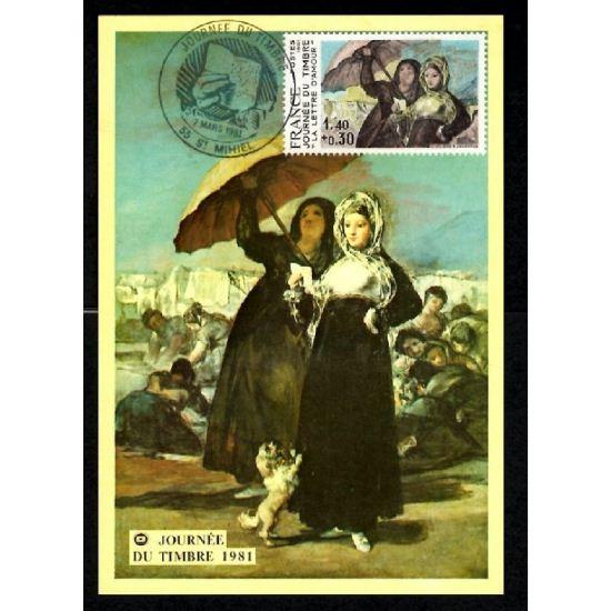 Lot de 2 Cartes Postales - Journée du Tilmbre 1976 - 1981