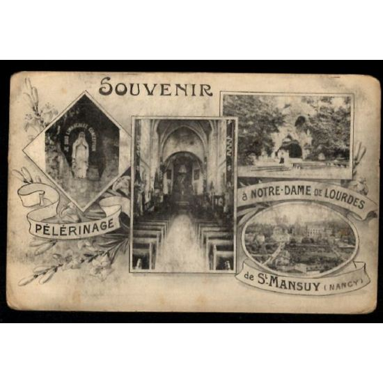 Lot de 3 CP NANCY - SAINT-MANSUY - Pélerinage à Notre Dame de Lourdes
