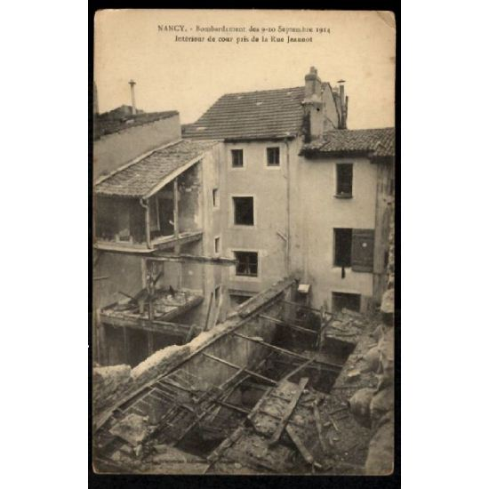 Lot de 5 CP NANCY - Bombardement 9 et 10 septembre 1914
