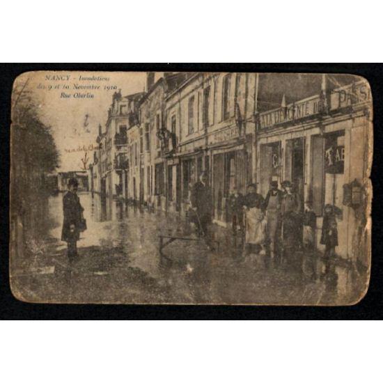 NANCY - Innondations des 9 et 10 Novembre 1910 - Rue Oberlin