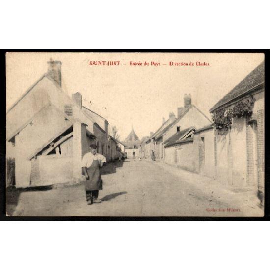 51 - SAINT JUST  (Marne) - Entrée du Pays - Direction de Clesles
