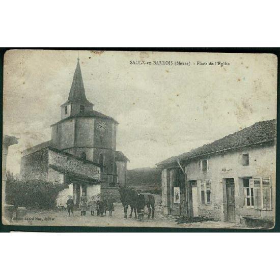 55 - SAULX EN BARROIS (Meuse) - Place de l'Eglise