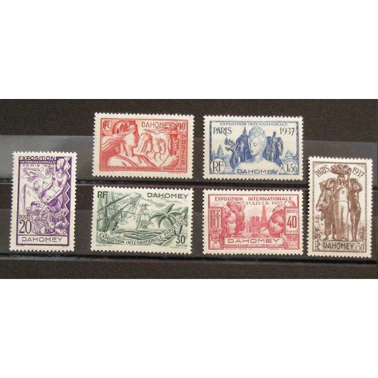 Dahomey, N°103-108, N* Cote 12€