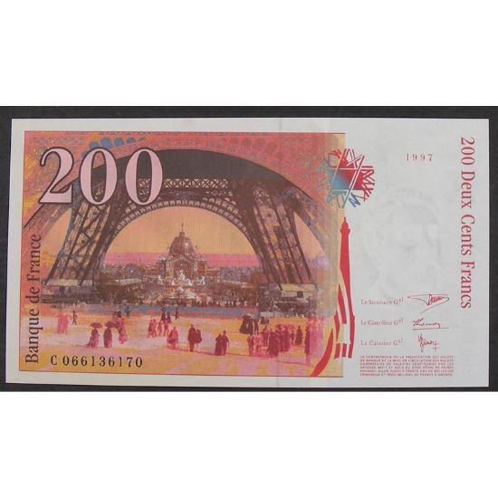 200 Francs Eiffel 1997, C066136170, Neuf papier jauni