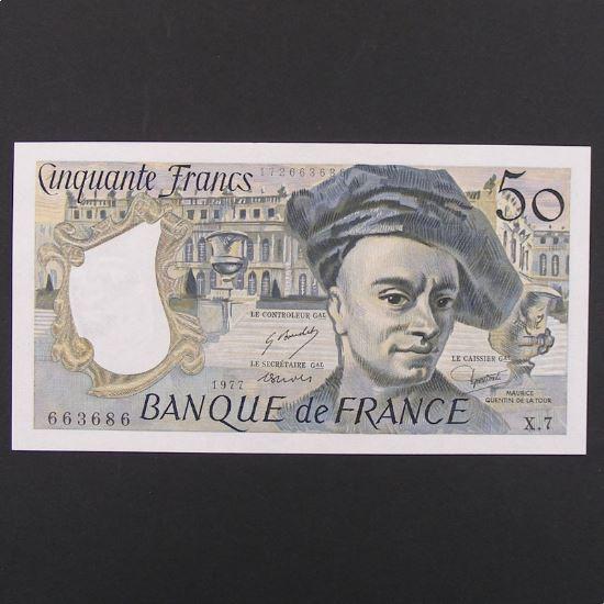 50 Francs Quentin de la Tour 1977, SUP+