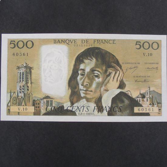 500 Francs Pascal 2.1.1969, TTB+