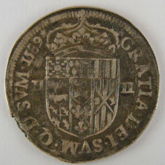 France, Seigneurie de Béarn, Henri II, 1/4 Ecu du Béarn 1589, TB+, Bd:611