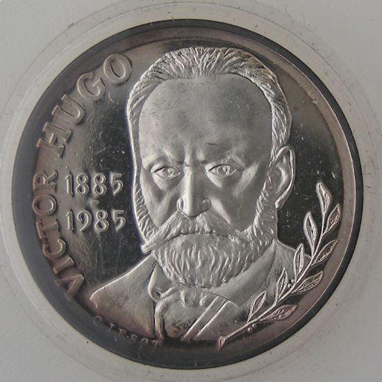 Victor Hugo, 10 Francs 1985, BU argent, KM# 956b