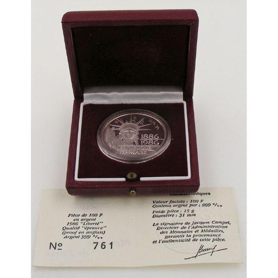 100 Francs 1986 BE, Liberté, KM#960a