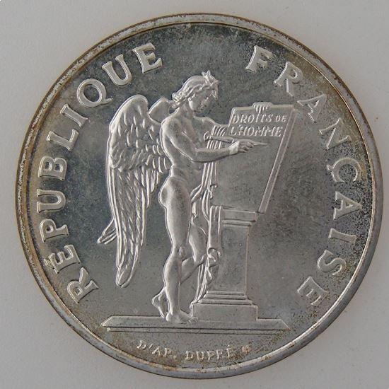 France, 100 Francs 1989, Droits de l'Homme, SPL, KM# 970
