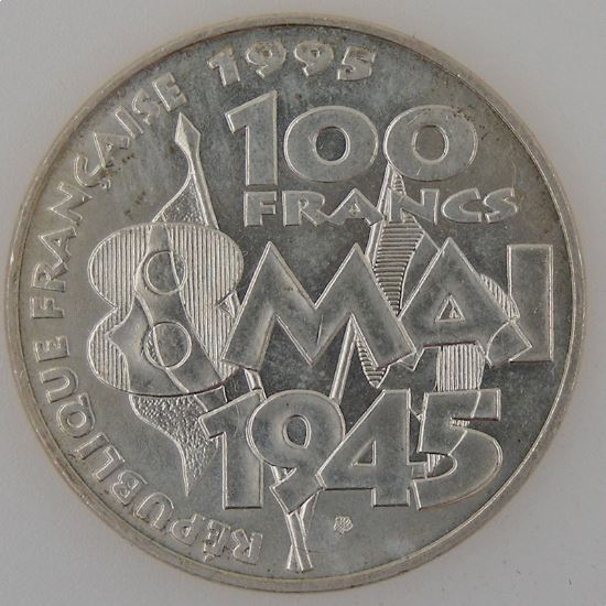 France, 100 Francs 1995, 8 Mai 1945, SUP+ , KM#1116.1