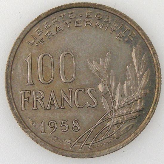 France, Cochet, 100 Francs 1958, TTB, KM#919.1