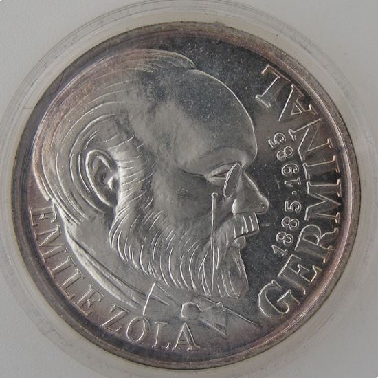 France, Emile Zola, 100 Francs 1985, FDC, Argent, KM # 957