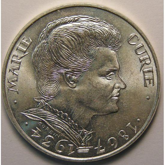 Marie Curie, 100 Francs 1984, SUP+, KM# 955