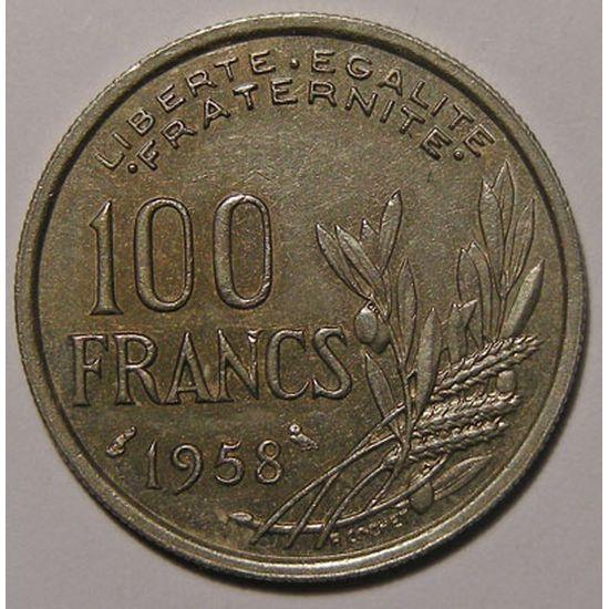 Monnaie française, Cochet, 100 Francs 1958 Chouette, Gadoury: 897, TTB/TTB+