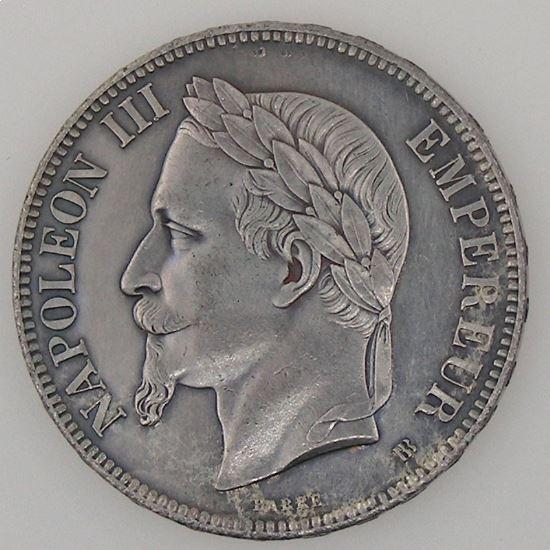 France, Napoléon III, 5 Francs 1869 BB, TTB+/SUP, KM# 799.2