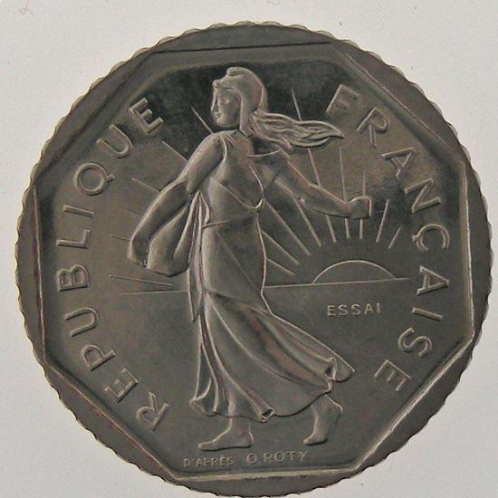France, 2 Francs 1978 Essai Nickel, SPL/FDC, KM# E119