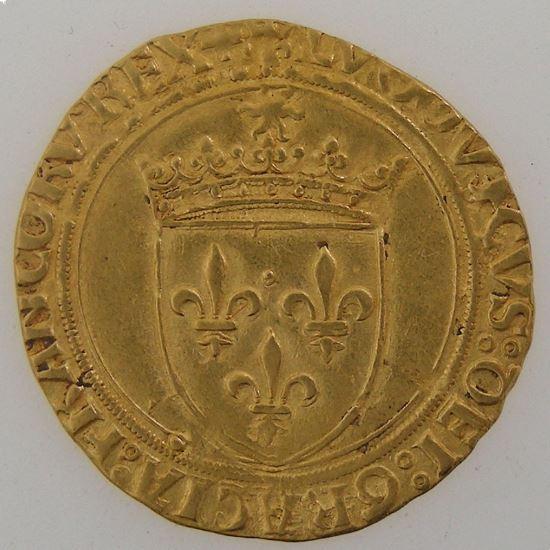 Monnaie royale, Louis XII, écu d'or au soleil, Duplessy 647.  Point 18° Paris