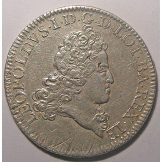 Monnaie Lorraine, duché de Lorraine, Léopold 1er (1690-1729), Double Teston 1719, Flon P 907 n° 116