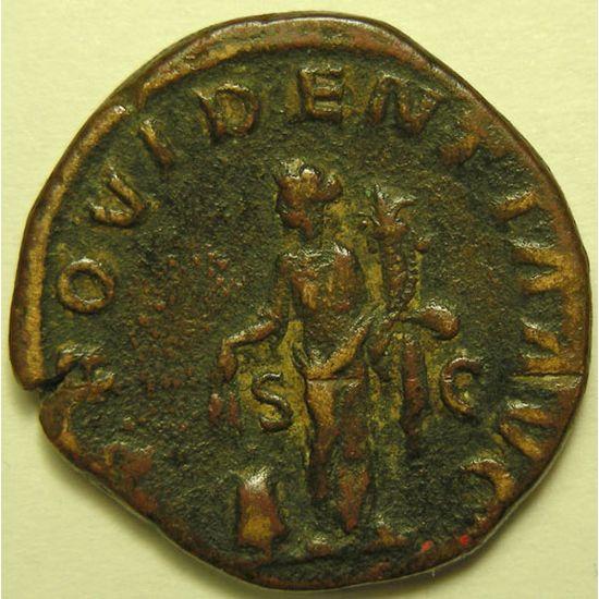 Empire romain, Alexander Severus, Sesterce, R/ PROVIDENTIA AVG SC, 19.61 Grs, TB