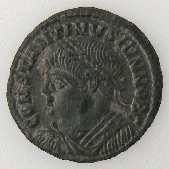 CONSTANTIN II, CONTANTINUS II, Follis, R/ VIRTVS CAESS, SUP