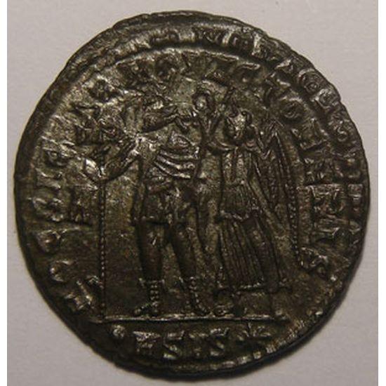 Empire romain, Constantius II, Maiorina, R/ HOC SIGNO VICTOR ERIS, 5.05 Grs, SUP+