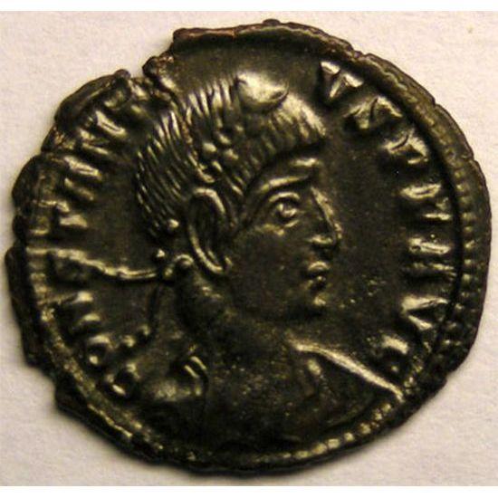 Monnaie romaine, empereur, Constance II, centenionalis ou nummus, R/ GLORIA EXERCITVS