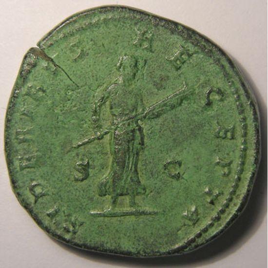 Empire romain, Faustina Junior, Sesterce, R/ SIDERIBVS RECEPTA SC, 26.68 Grs, TTB/TTB+