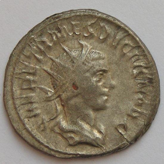 HERENNIUS ETRUSCUS, Antoninien, PIETAS AVGG, TB+/TTB