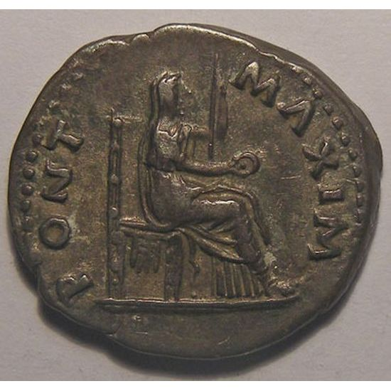 Empire romain, Vitellius, Denier, R/ PONT MAXIM, 2.82 Grs, TTB+