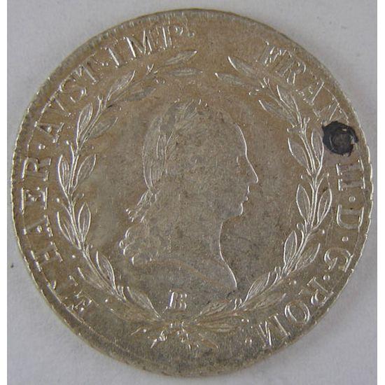 Austria, 20 Kreuzer 1805 B, SUP, KM# 2140