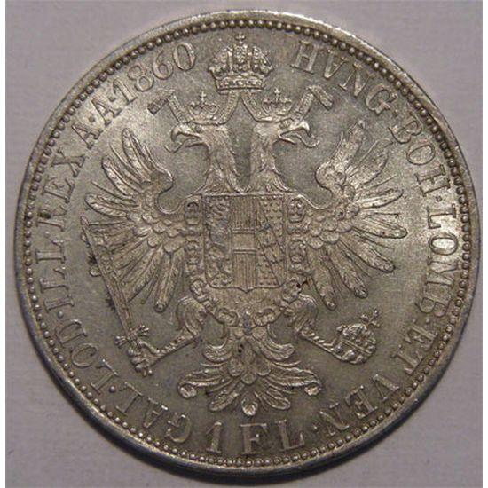 Monnaie étrangère, Autriche, 1 Florin 1860 A