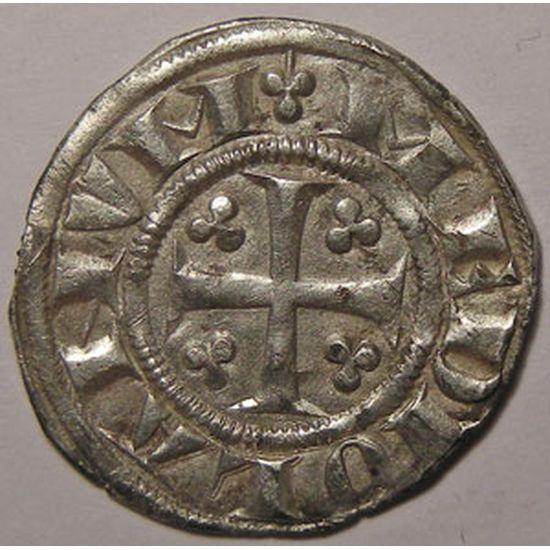 Monnaie étrangère, Italie, Italy, Milan 1ère République (1250-1310)  Soldo O Ambrosino Piccolo , Biaggi#1427