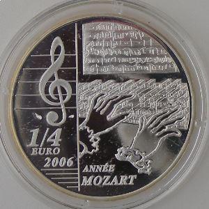 1/4 Euro 2006 BU, Mozart 1756-2006, Gad: EU 184