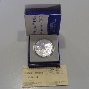 1.5 Euro 2003 BE, Pierre de Coubertin, d'Athènes en 1896 à Athènes 2004, KM# 1361