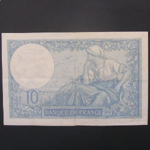 10 Francs Minerve 26-3-1931 , TTB/TTB+