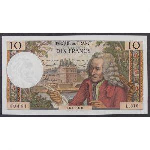 10 Francs Voltaire 6.4.1967, L.316, SUP