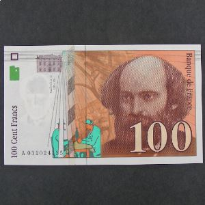 100 Francs Cézanne 1997, SPL