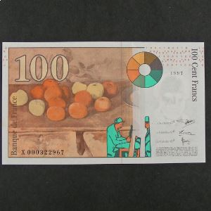 100  Francs Cézanne 1997, SUP+