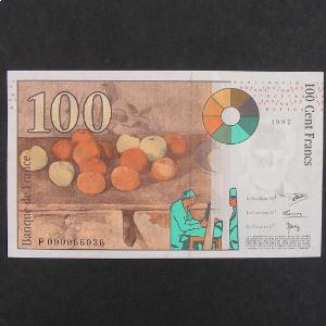 100 Francs Cézanne 1997, SUP