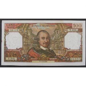 100 Francs Corneille 7.3.1968, Y.310, TTB