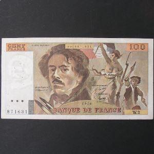 100 Francs Delacroix 1978, TB+