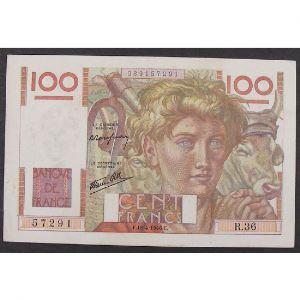100 Francs Jeune Paysan 18.4.1946 , R.36, TTB