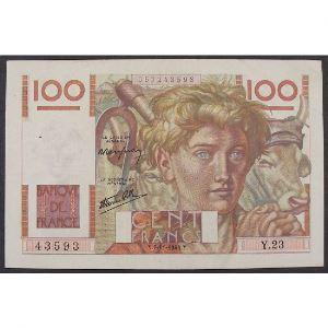 100 Francs Jeune Paysan 7.11.1945 , Y.23, TTB