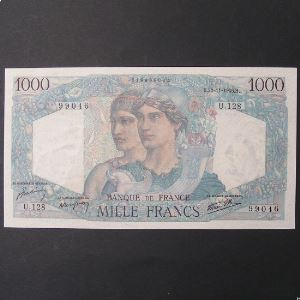 1000 Francs Chateaubriand 22-11-1945, Neuf